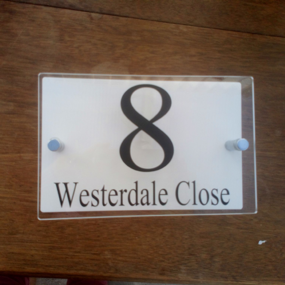 Acrylic Door Number/Name - Contemporary